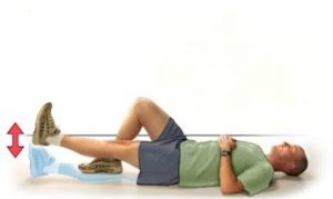 leg raises for hip flexors